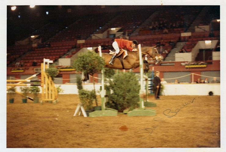 David Barker signed show jumping photo autographed equestrian sports memorabilia