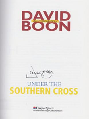 David-Boon-autograph-signed-Australia-cricket-memorabilia-1996-autobiography-under-the-southern-cross