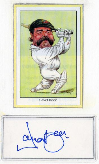 David-Boon memorabilia Australian cricket memorabilia signed John Ireland player card print 350