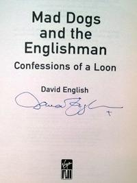 DAVID ENGLISH (founder of the  Bunbury Cricket Club) signed autobiography