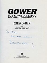 David-Gower-autograph-signed-autobiography-book-England-cricket-memorabilia-leics-ccc-signature-captain-Sky-sports-TV-commentator