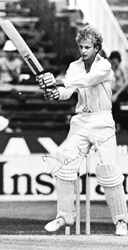 David-Gower-autograph-signed-england-cricket-memorabilia-1979-test-match-series-India-200-leics-hants-ccc-captain