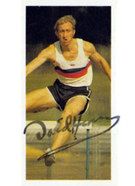 DAVID HEMERY 1968 Olympic 400m gold medal signed cigarette card.
