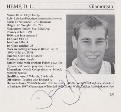 David-Hemp-autograph-signed-glamorhgan-cricket-memorabilia-signature-1995-county-cricketers-whos-who