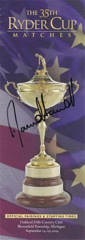 DAVID HOWELL  Signed 35th Ryder Cup  Official Pairings & Start Times booklet.