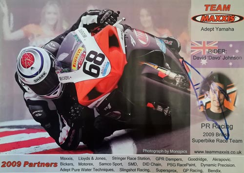 David-Johnson-autograph-Davo-signed-motor-cycling-memorabilia-Team-Maxxis-Adept-Yamaha-BSB-British-Superbike-Championship-68-2009