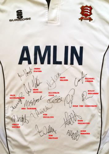 David-Masters-signed-essex-cricket-memorabilia-playing-shirt-amlin-eccc-foster-ten-doeschate-alistair-cook-autograph-pettini-westley-wright-phillips-mickleburgh-walker
