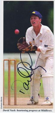 David-Nash-autograph-signed-Middlesex-cricket-memorabilia-Middx-CCC-county-wicket-keeper