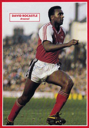 David-Rocastle-signed-Arsenal-fc-football-memorabilia-topical-times-annual-autograph-AFC-Gunners