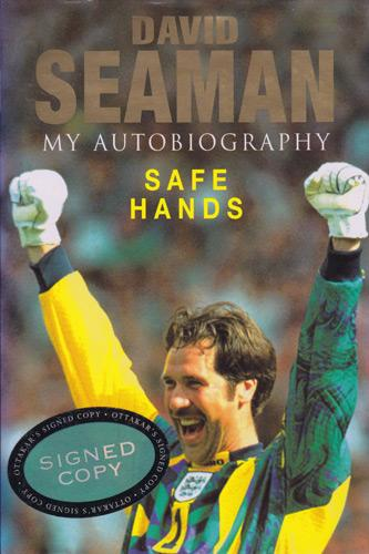 David-Seaman-memorabilia-david-seaman-autograph-signed-autobiography-Safe-Hands-book-Arsenal-football-memorabilia-first-edition-AFC-memroabilia-Gunners-goalkeeper