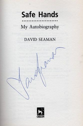 David-Seaman-memorabilia-david-seaman-autograph-signed-autobiography-Safe-Hands-book-Arsenal-football-memorabilia-first-edition-AFC-memroabilia-Gunners-goalkeeper-signature
