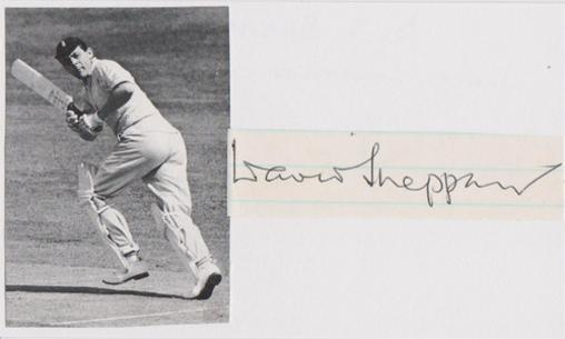 David-Sheppard-autograph-signed-England-cricket-memorabilia-President-Sussex-CCC-Reverend-Rev-Bishop-of-Liverpool