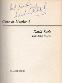 David-Steele-autograph-signed-england-cricket-memorabilia-book-autobiography-come-in-number-3-signature