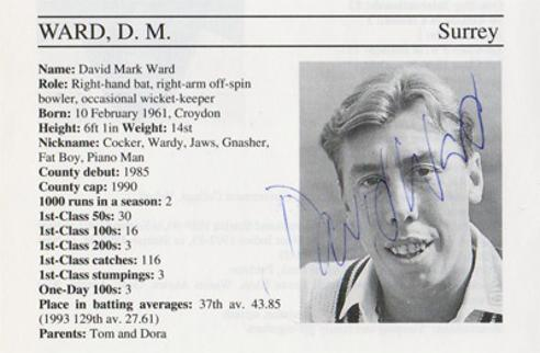 David-Ward-autograph-signed-surrey-cricket-memorabilia-england-batsman-whos-who-signature