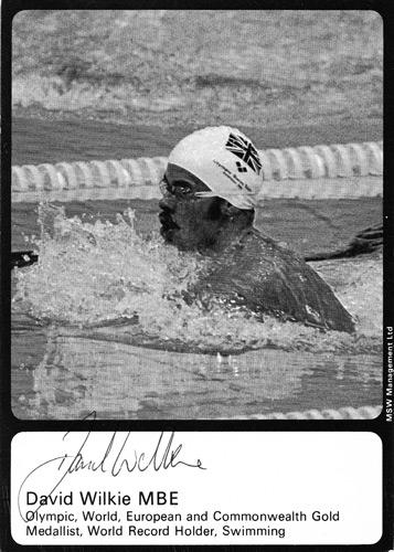 David-Wilkie-autograph-signed-Olympic-breastroke-card-swimming-memorabilia