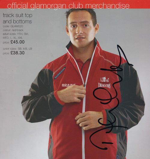 Dean-Cosker-autograph-signed-Glamorgan-cricket-memorabilia-off-spin-bowler-signature-wales-official-club-merchandise-fashion-shoot-clothing