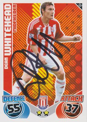 Dean-Whitehead-autograph-signed-Stoke-City-FC-football-memorabilia-midfielder-signature-sunderland-captain-huddersfield stat attack card