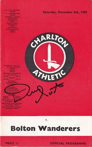 Dennis-Booth-autograph-signed-charlton-athletic-football-memorabilia-addicks-programme-1969-bolton-wanderers-valiants-the-valley-cafc