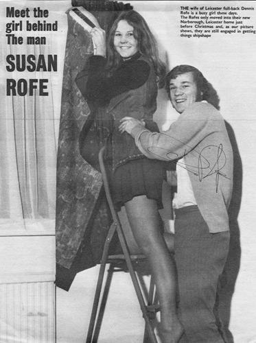 Dennis-Rofe-autograph-signed-Leicester-City-FC-football-memorabilia-signature-meet-the-wife-susan-magazine-feature-leyton-orient