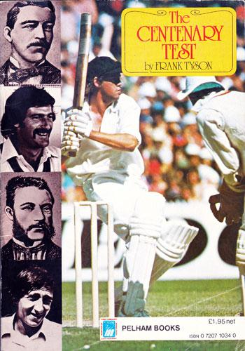 Derek Randall memorabilia 1977 Centenary Test Ashes cricket memorabilia brochure cover