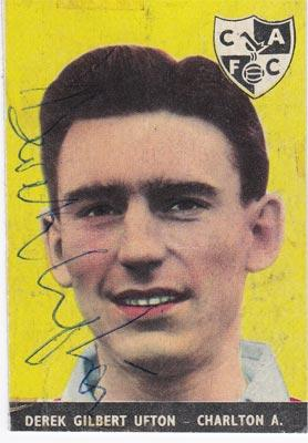Derek-Ufton-autograph-signed-charlton-athletic-football-memorabilia-kent-cricket-cafc-addicks