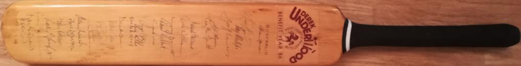 Derek-Underwood-autograph-signed-kent-cricket-memorabilia-1986-benefit-year-autographed-bat-australia-england-ashes-test-series-warks-ccc-deadly-kccc
