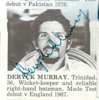 Deryck-Murray-autograph-signed-West-Indies-cricket-memorabilia-Trinidad-Warks-ccc-Notts-West-indian-wicket-keeper-richards-roberts-greenidge-lloyd-holding-signature