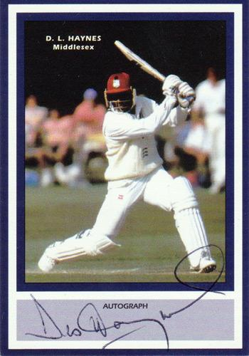 Desmond Haynes signed West Indies player card