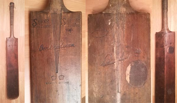 Don-Bradman-autograph-signed-australia-cricket-memorabilia-sykes-world-record-bat--willow-new-south-wales-sir