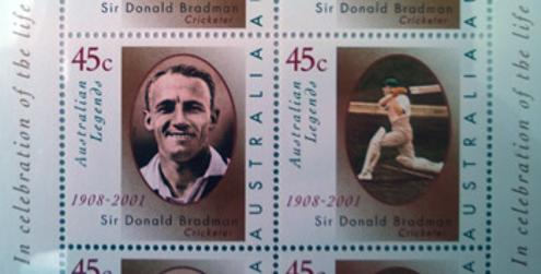 Don-Bradman-memorabilia-Australian-Post-Legend-Commemorative-Stamp-Souvenir-Booklet-Cricket-memorabilia-The-Don-stamps