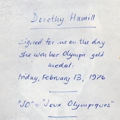 Dorothy-Hamill-memorabilia-autograph-signed-Olympics-Ice-Skating-memorabilia-1976-Innsbruck-Winter-Olympic-Games-memorabilia-champion-world-champion-USA-signature