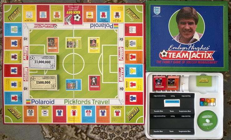 Emlyn Hughes Team tactic board game football soccer memorabilia
