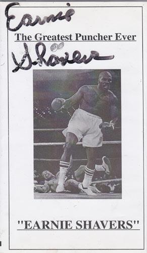 Earnie-Shavers-autograph-signed-boxing-memorabilia-heavyweight-greatest-puncher-ever-video-Mr-Devastation-boxer