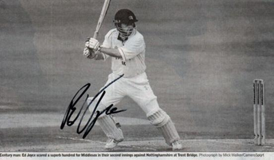 Ed-Joyce-autograph-signed-Middlesex-cricket-memorabilia-Middx-CCC-county-batsman-England-Ireland-ODI-captain-Sussex-Edward