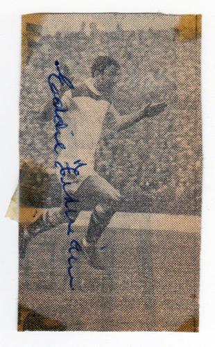 Eddie-Firmani-autograph-signed-Charlton-Athletic-football-memorabilia-CAFC-Football-with-the-Millionaires-South-Africa-Sampdoria-Inter-Milan-Italy-Tampa-Bay-Rowdies