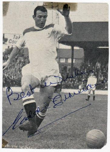 Eddie-Firmani-autograph-signed-Charlton-Athletic-football-memorabilia-italy-sampdoria-inter-milan-tampa-bay-rowdies-new-york-cosmos-south-africa-signature