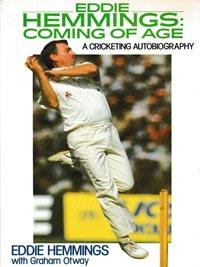 Eddie-Hemmings-autograph-signed-england-cricket-memorabilia-book-autobiography-coming-of-age-warks-ccc-spinner