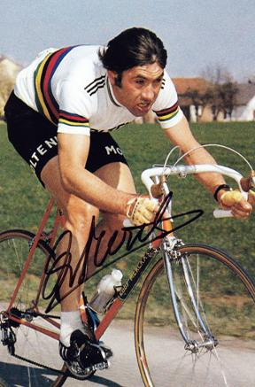 EDDY MERCKX memorabilia (five-time winner Tour de France memorabilia) signed photo cycle memorabilia cycling memorabilia