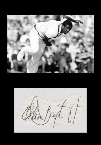 Eldine-Baptiste-autograph-signed-Kent-cricket-memorabilia-west-indies-all-rounder-leeward-islands-signature-KCCC