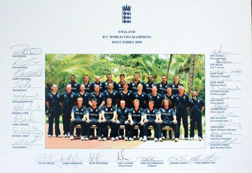 England-cricket-memorabilia-2010-World-T20-Champions-signed-squad-photo-team-ECB-West-Indies-staff
