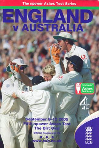 England-cricket-memorabilia-australia-signed-2005-ashes-5th-test-oval-programme-Kevin-Pietersen-Marcus-Tresothick-Hoggard-Geraint-Jones-Andrew-Strauss-Giles-Langer