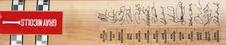 England-cricket-memorabilia-signed-Gray-Nicolls-bat-ODI-One-day-bangladesh-tour-2016-Buttler-Woakes-Duckett-Moeen-Ali-Billings-Bairstow-Roy-Ben-Stokes-autograph