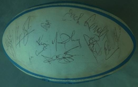 England-rugby memorabilia signed-rugby-ball-1996-Five-Six-Nations-champions-sports memorabilia autograph