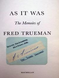 FRED-TRUEMAN-memorabilia-signed-autobiography-autographed-memoirs-As-It-Was-Yorkshire-cricket-memorabilia-Fiery-autograph-signature