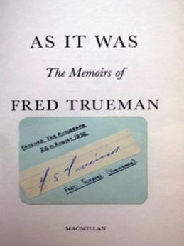 FRED-TRUEMAN-memorabilia-signed-autobiography-autographed-memoirs-As-It-Was-Yorkshire-cricket-memorabilia-Fiery-signature
