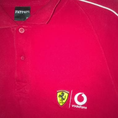 Ferrari memorabilia racing Official Formula One polo shirt tifosi Formula One memorabilia clothing