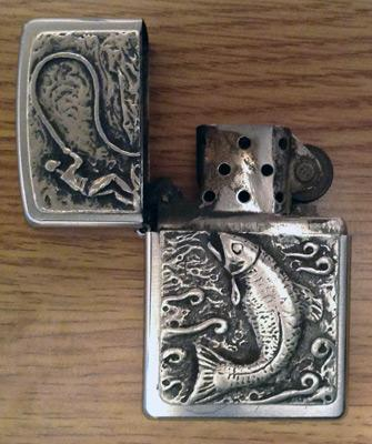 Fishing-lighter-zippo-fly-fish-memorabilia-collectable-angling