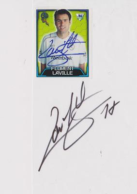 Florent-Laville-autograph-signed-Bolton-Wanderers-fc-football-memorabilia-signature-lyon-france-defender-2010-11-premier-league-player-card-sticker
