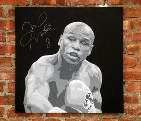 Floyd-Mayweather-memorabilia-signed-boxing-memorabilia-Mike-Ramirez-fine-art-autographed-artwork-painting-canvas-wall-350