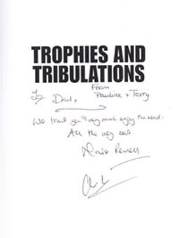 Forty Years of Kent Cricket memorabilia signed book Trophies and Tribulations Mark Pennell Clive Ellis autograph